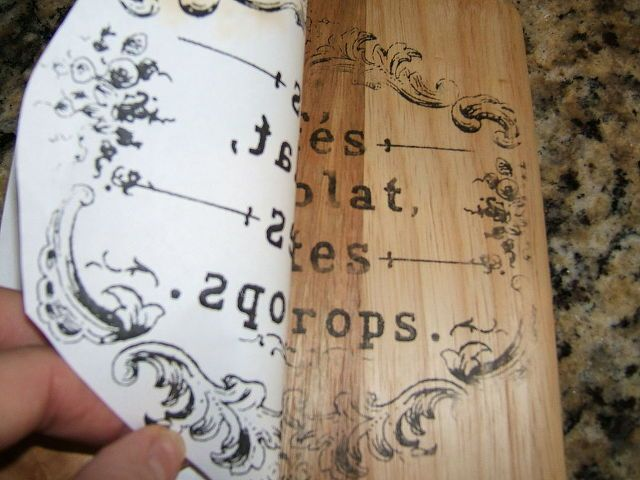 Transferring Patterns To Wood